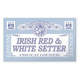 IRISH RED WHITE SETTER Rectangle Decal