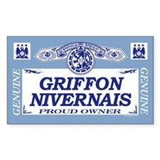 GRIFFON NIVERNAIS Rectangle Decal