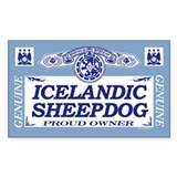 ICELANDIC SHEEPDOG Rectangle Decal