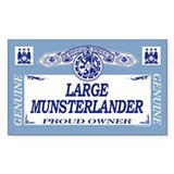 LARGE MUNSTERLANDER Rectangle Decal