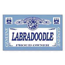 LABRADOODLE Rectangle Decal