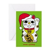 maneki neko lucky cat holiday card