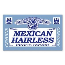 MEXICAN HAIRLESS Rectangle Decal