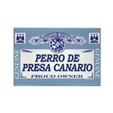 PERRO DE PRESA CANARIO Rectangle Magnet (100 pack)