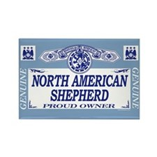 NORTH AMERICAN SHEPHERD Rectangle Magnet (100 pack