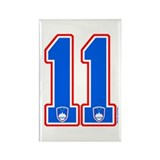 SI Slovenija(Slovenia) Hockey 11 Rectangle Magnet