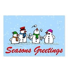 Juggling Snowmen Postcards (Package of 8)