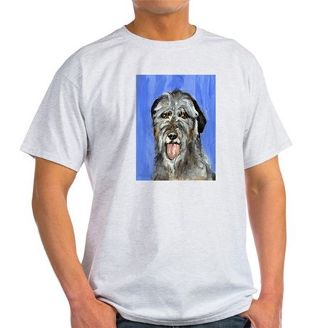 IRISH WOLFHOUND Portrait Desi Ash Grey T-Shirt