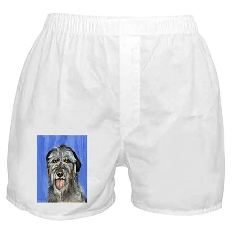 IRISH WOLFHOUND Portrait Desi Boxer Shorts