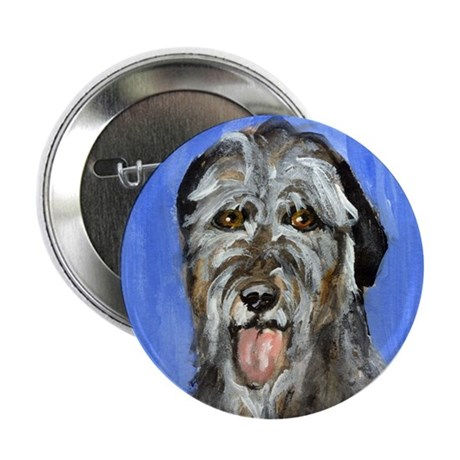 IRISH WOLFHOUND Portrait Desi Button