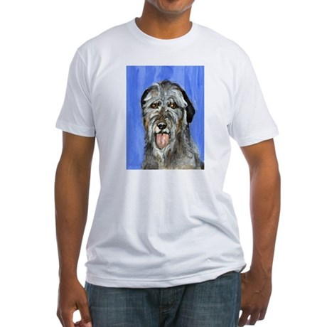 IRISH WOLFHOUND Portrait Desi Fitted T-Shirt