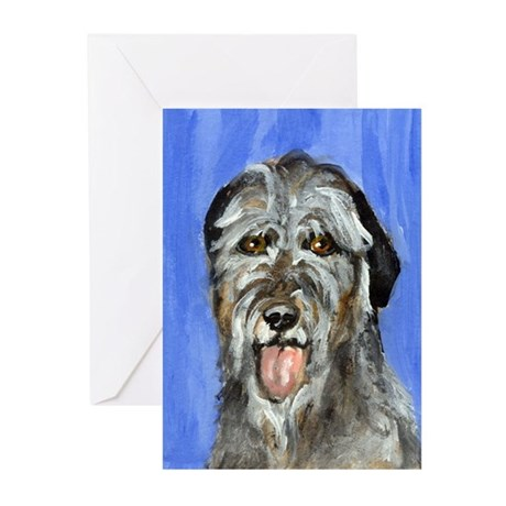 IRISH WOLFHOUND Portrait Desi Greeting Cards (Pack