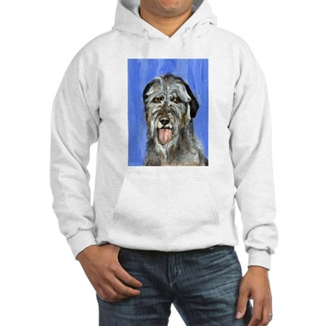 IRISH WOLFHOUND Portrait Desi Hooded Sweatshirt