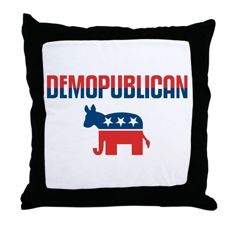 Demopublican Throw Pillow