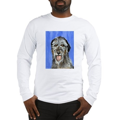 IRISH WOLFHOUND Portrait Desi Long Sleeve T-Shirt