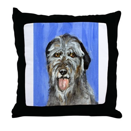 IRISH WOLFHOUND Portrait Desi Throw Pillow
