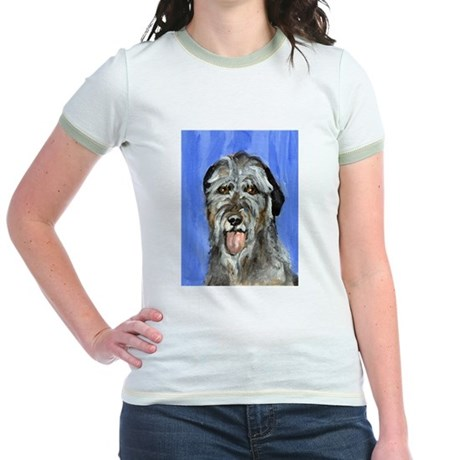 IRISH WOLFHOUND Portrait Desi Jr. Ringer T-Shirt