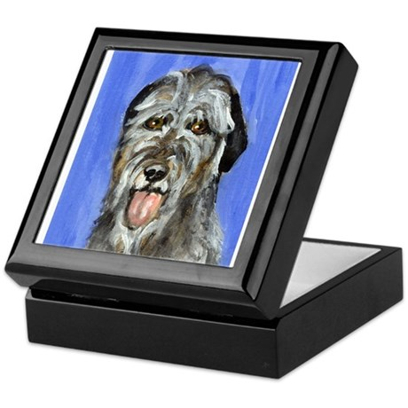 IRISH WOLFHOUND Portrait Desi Keepsake Box
