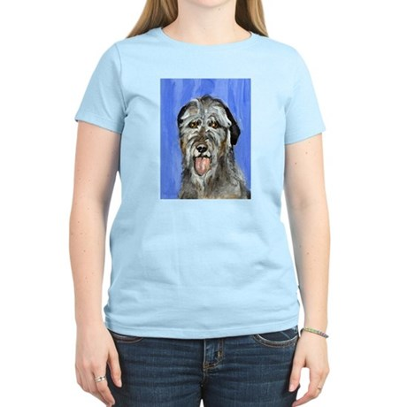 IRISH WOLFHOUND Portrait Desi Women's Pink T-Shirt