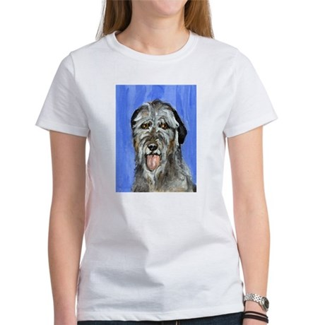IRISH WOLFHOUND Portrait Desi Women's T-Shirt
