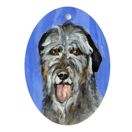 IRISH WOLFHOUND Portrait Desi Keepsake (Oval)