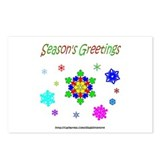 Autism Puzzle Snowflake Postcards (Package of 8)