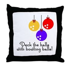 BowlingChick Deck the Halls Throw Pillow