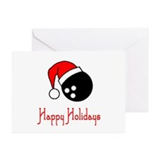 BowlingChick Happy Holidays Greeting Cards (Pk of