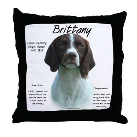 Brittany (Liver) Throw Pillow