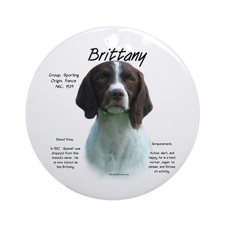 Brittany (Liver) Ornament (Round)