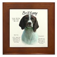 Brittany (Liver) Framed Tile