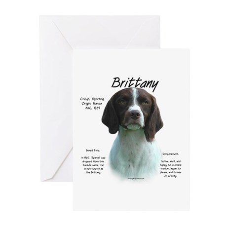 Brittany (Liver) Greeting Cards (Pk of 10)