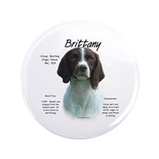 "Brittany (Liver) 3.5"" Button"