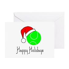 TennisChick Happy Holidays II Greeting Cards (Pk o