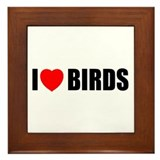 I Love Birds Framed Tile