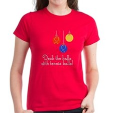 TennisChick Deck the Halls Tee