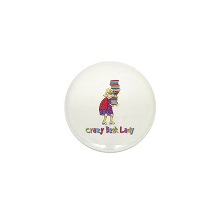Crazy Book Lady Mini Button (10 pack)