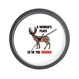 WOMAN IN THE WOODS Wall Clock