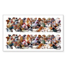 Zebra Finch Poster Rectangle Decal