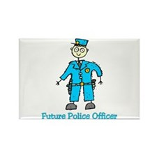 Future Police Officer (boy) Rectangle Magnet
