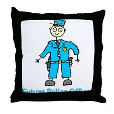 Future Police Officer (boy) Throw Pillow