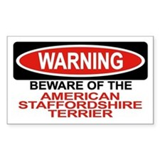 AMERICAN STAFFORDSHIRE TERRIER Sticker (Rectangula
