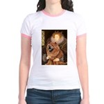 Queen / Chow (red) Jr. Ringer T-Shirt