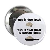 "Fried Nursing Student Brain 2.25"" Button"