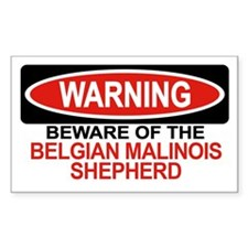 BELGIAN MALINOIS SHEPHERD Rectangle Decal
