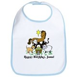 Jesus Birthday Bib