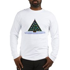 Patriotic Christmas Tree Long Sleeve T-Shirt