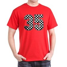 Checkered Number 35 T-Shirt