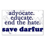Save Darfur Rectangle Bumper Stickers