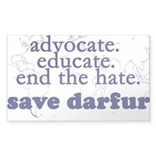Save Darfur Rectangle Decal